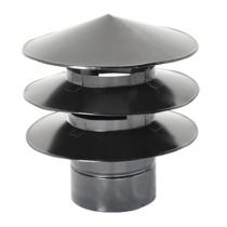 Chapéu para coifa 40cm - Aletado - Pintado