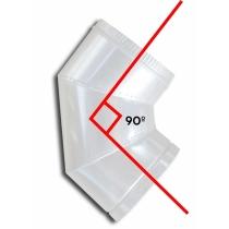 Curva 90º -  Ø 25cm - PINTADO BRANCO