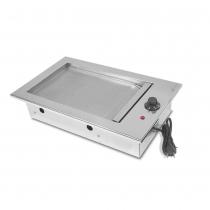 Chapa de Lanche elétrica Gourmet em Inox de Embutir 40X50 - JX Metais