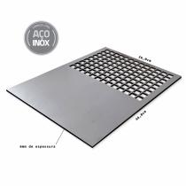 Chapa de inox 304 com grelha de abertura quadrada (36x46)